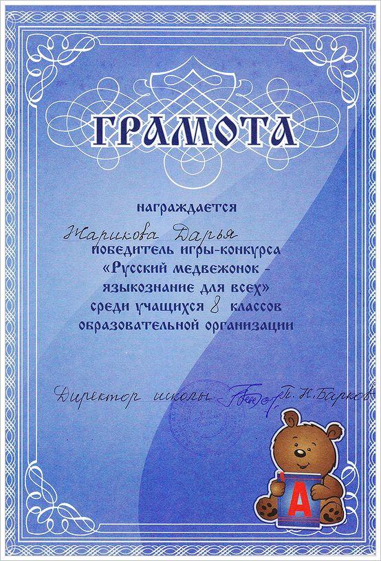 Жарикова Дарья. Диплом