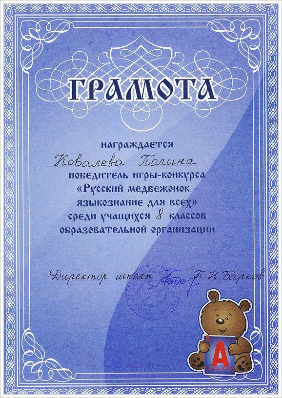 Ковалева Полина. Диплом