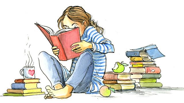 Ученик читает